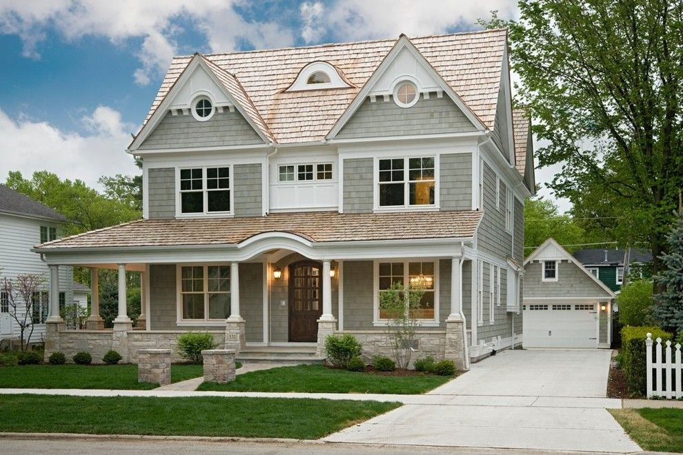 Front Range Lumber for a Victorian Exterior with a Detached Garage and Oakley Home Builders by Oakley Home Builders