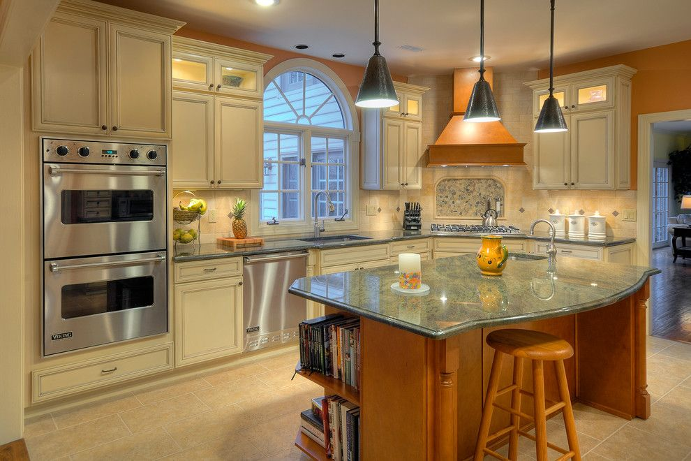 Fruit Flies in Kitchen for a Traditional Kitchen with a Black Pendant Light and Kitchen Remodeling Newtown, Pa by Diamond Kitchen & Bath