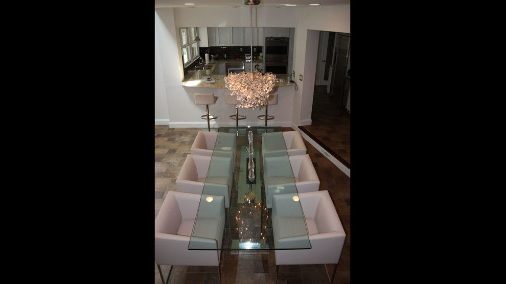 Furniture Medic for a Modern Dining Room with a Art and Linnane Project by Cantoni Atlanta
