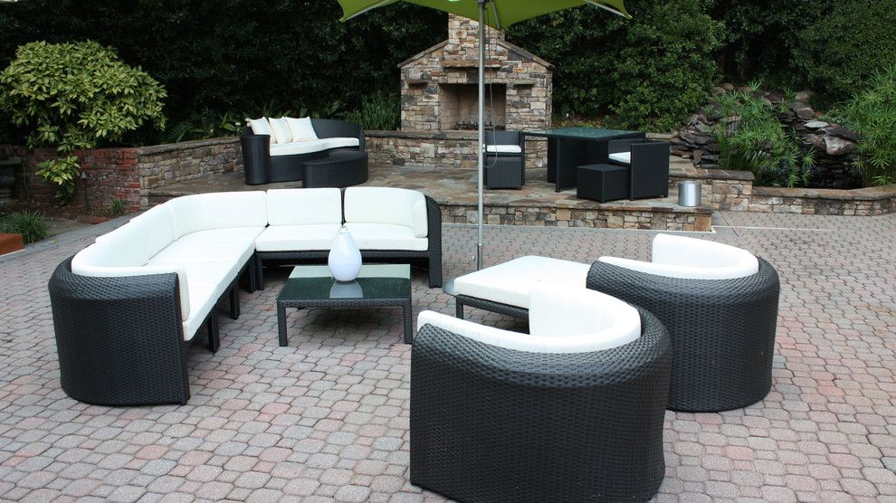 Furniture Medic for a Modern Patio with a Contemporary and Linnane Project by Cantoni Atlanta