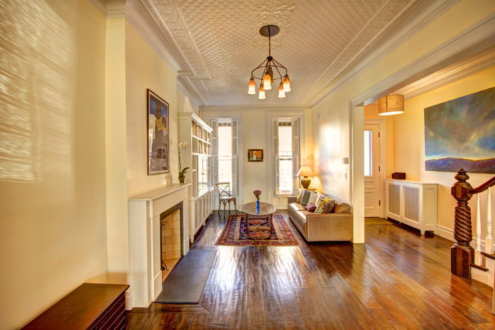Gaf Contractor Zone for a Traditional Living Room with a Ceiling Treatment and Park Slope Brownstone by Ben Herzog