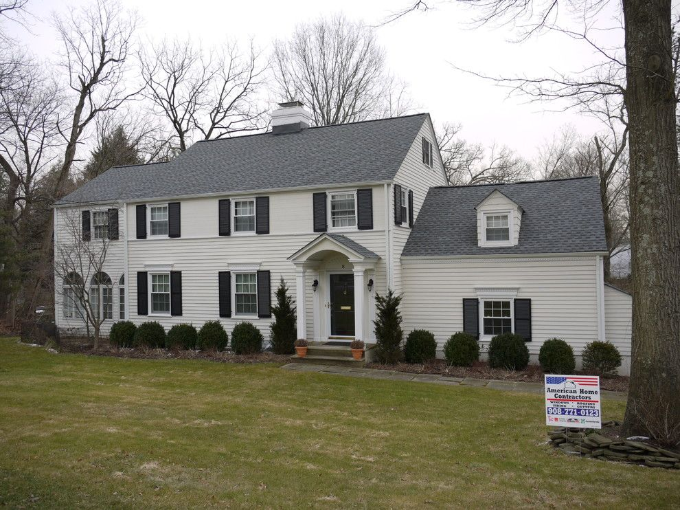 Gaf Timberline Shingles for a Traditional Exterior with a New Jersey and Gaf Timberline Hd Pewter Gray (Short Hills, Nj) by American Home Contractors