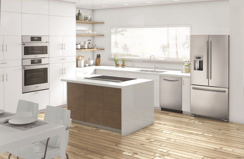 Garage Northville for a Contemporary Kitchen with a White Countertop and Contemporary Kitchen by Bosch home.com