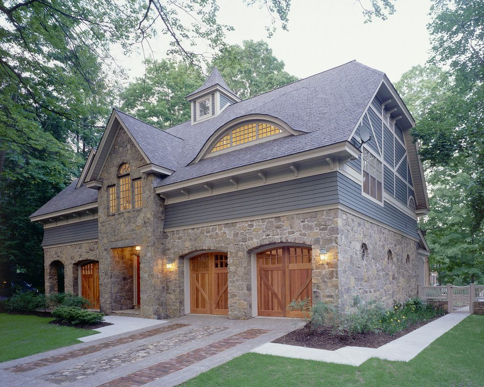 Garage Northville for a Traditional Exterior with a Sconce and Woodlawn Residence by Witt Construction