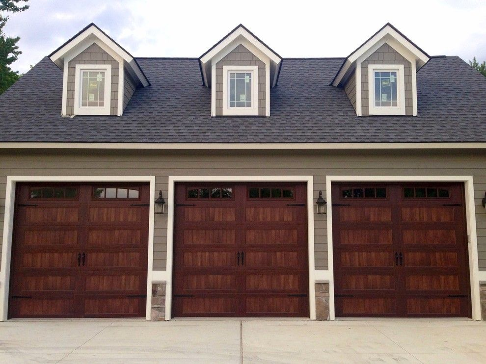 Garage Northville for a Traditional Garage with a Custom Garage Doors and Faux Wood Garage Doors by Premier Door Service