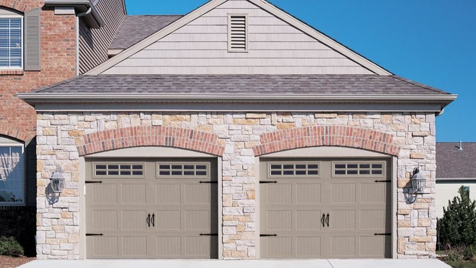 Garage Sales Okc for a Traditional Garage with a Garage Carriage Doors and Stamped Carriage House by Empire Overhead Doors, Llc