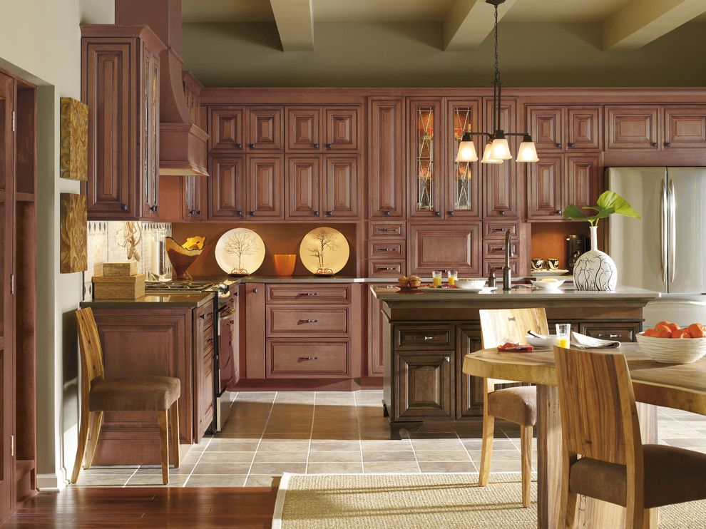 Garage Sales Okc for a Traditional Kitchen with a Brown Cabinets and Kitchen Cabinets by Capitol District Supply