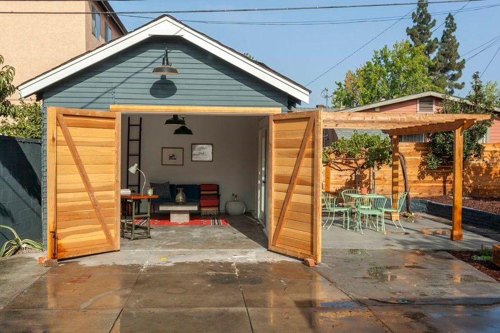 Garagetek for a Eclectic Shed with a Barn Lamp and Hazlewood Ave, Eagle Rock by Platform