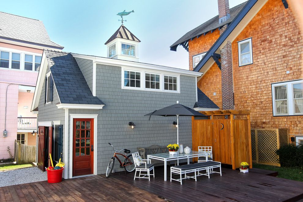 Garagetek for a Eclectic Shed with a Deck and Eclectic Garage and Shed by Knightarch.com