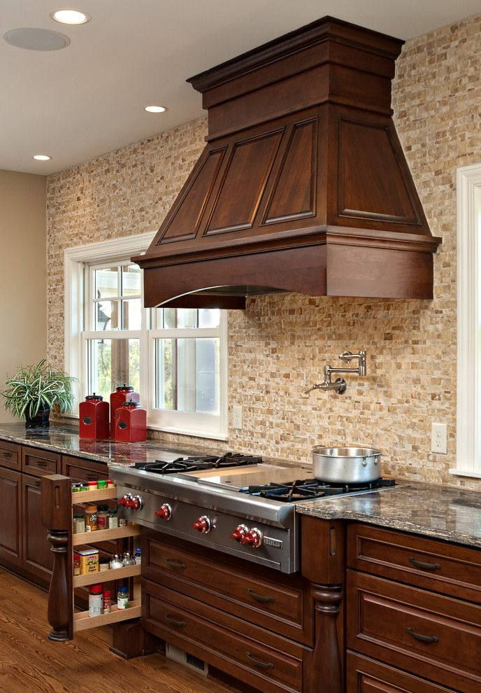 Gas Dryer vs Electric Dryer for a Traditional Kitchen with a Cabinetry and Kitchen by Knight Construction Design Inc.