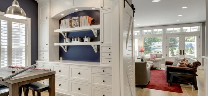 Gemcraft Homes for a Traditional Home Office with a Blue Walls and Modern Bungalow by Great Neighborhood Homes
