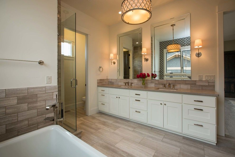 Georgia Contractors License for a Contemporary Bathroom with a Renovating and Harmony Club #3921 by Pjl Schuman Custom Homes