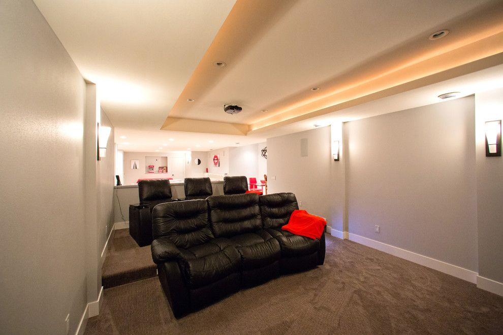 Germantown Theater for a Modern Home Theater with a Kitchen Remodel and Germantown Remodel by Barenz Builders