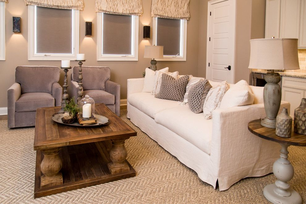 Germantown Theater for a Traditional Home Theater with a Rustic Modern Neutral and Germantown Model Home by Warehouse 67