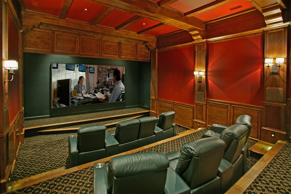 Germantown Theater for a Traditional Home Theater with a Traditional and Ingleside Farms, Germantown Tn. by Arc Con Construction (Bud Hurley)