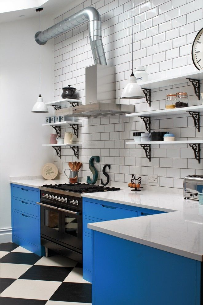Get Rid of Ants in Kitchen for a Industrial Kitchen with a Black and White Floor Tiles and Industrial Kitchen with American Diner Feel by Sustainable Kitchens