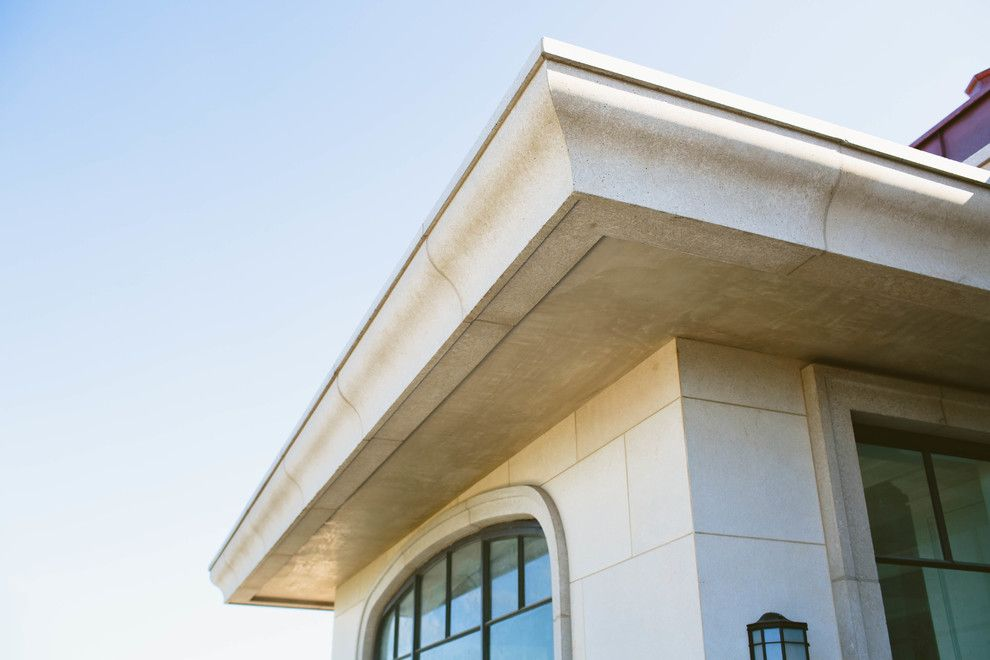 Gfrc for a  Spaces with a Balustrade and Custom Home, Newport Coast by Veristone