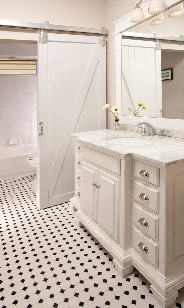 Gig Harbor Theater for a Traditional Bathroom with a Bathroom Vanity and Downtown Gig Harbor Custom by Hill Custom Homes