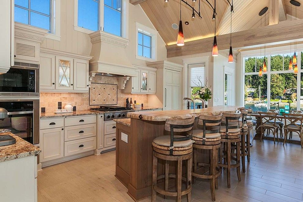 Gig Harbor Theater for a Transitional Kitchen with a Transitional and Harbor House  Gig Harbor by Harrison Homes, Llc