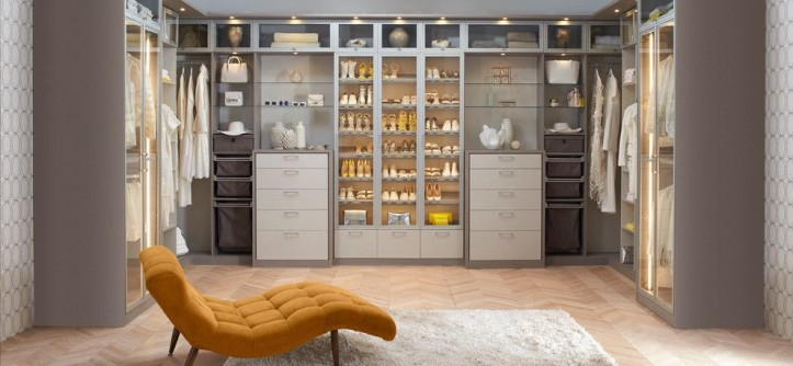 Gild Hall Nyc for a Contemporary Bedroom with a Organized Cabinet and Fashionista Walk- in Closet by California Closets HQ