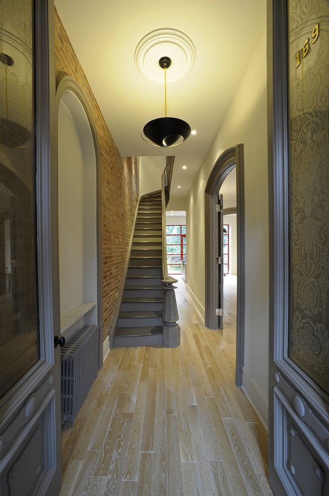 Gild Hall Nyc for a Contemporary Entry with a Glass Door and Botkier Residence by Valerie Pasquiou Interiors + Design, Inc