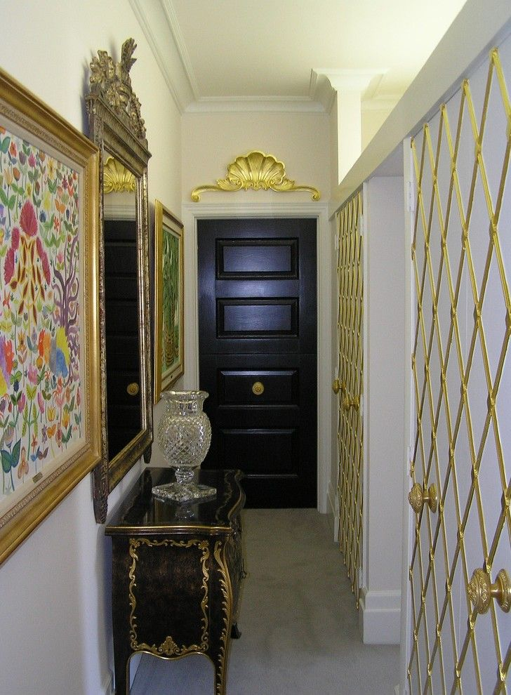 Gild Hall Nyc for a Eclectic Hall with a White Molding and Gilding Projects by G&g Painting, Restoration & Fine Cabinetry