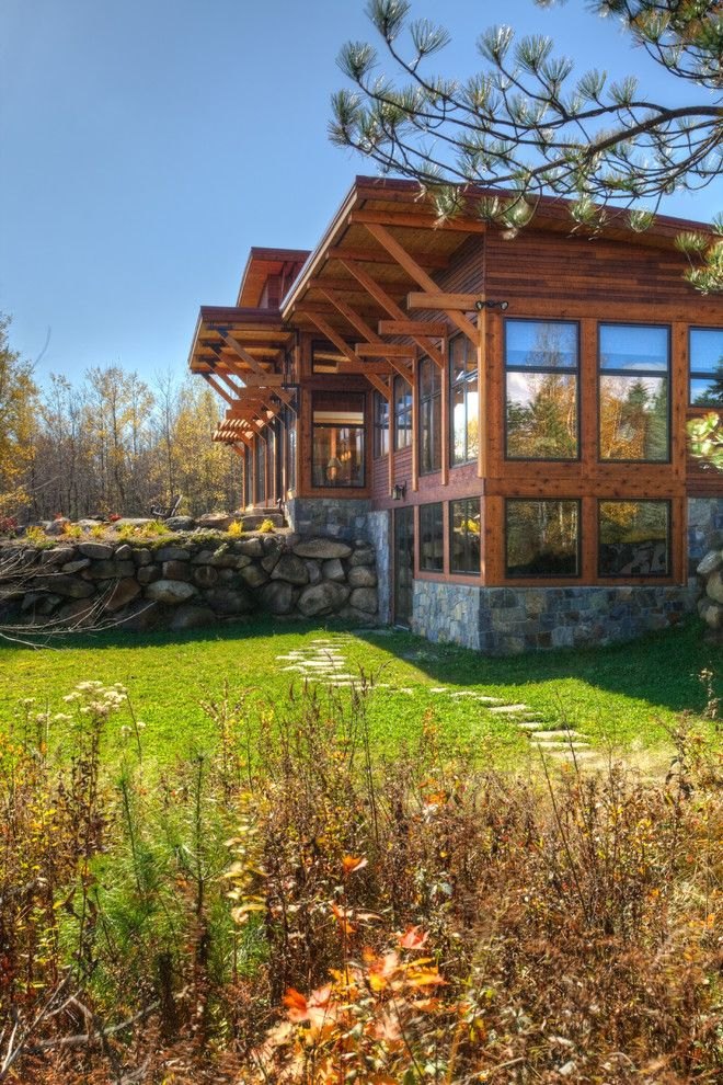 Gild Hall Nyc for a Rustic Exterior with a Timber and Saranac Lake House by Phinney Design Group
