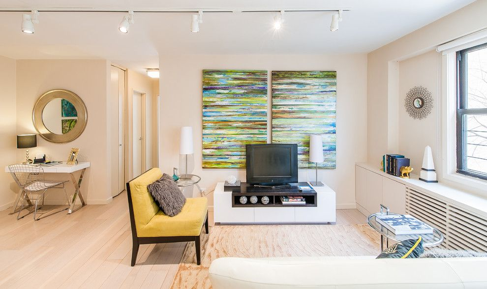 Gild Hall Nyc for a Transitional Family Room with a Windows and Nyc Living/family/den Rooms by Designed to Appeal by Designed to Appeal
