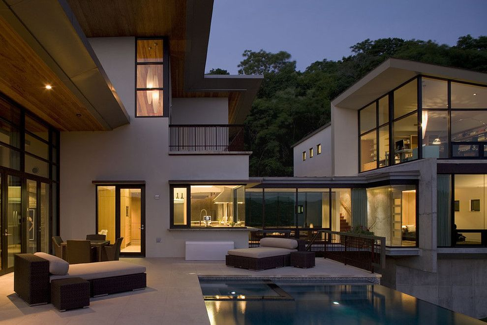 Glass House New Canaan for a Contemporary Exterior with a Chaise Lounge and Ch Portfolio by Jay Hargrave Architecture