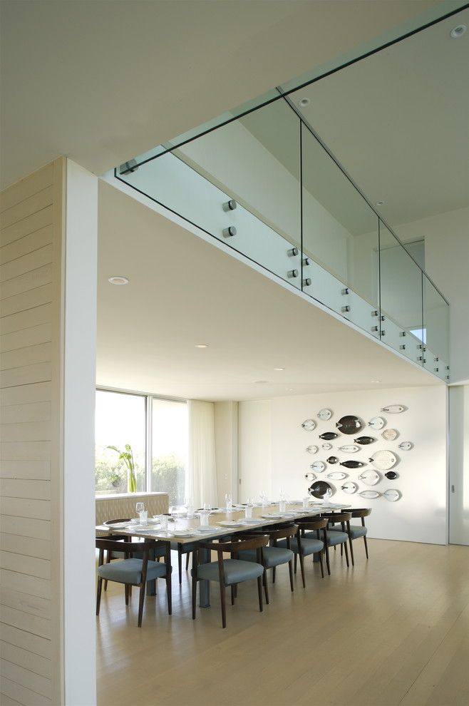 Glass House New Canaan for a Modern Dining Room with a Natural Wood and Flying Point Residence by Stelle Lomont Rouhani Architects