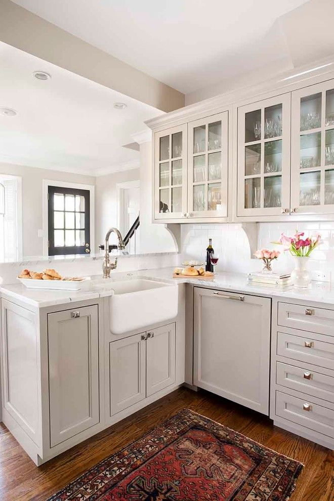 Glass House New Canaan for a Traditional Kitchen with a Custom Cabinetry and Pinetree Kitchen Renovation by Terracotta Design Build