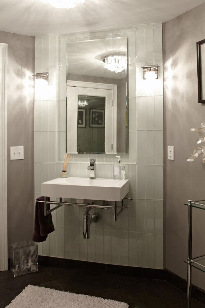 Glassed for a Contemporary Bathroom with a Tagre and M.J. Whelan Construction by M.J. Whelan Construction