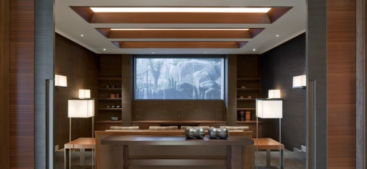 Glen Cove Theater for a Southwestern Home Theater with a Southwestern and Architect: Jon C Bernhard by Swaback Partners, Pllc
