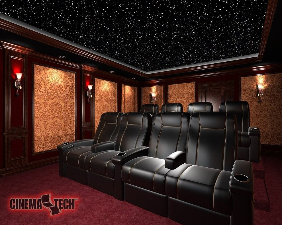 Glen Cove Theater for a Traditional Home Theater with a Traditional and Custom Home Theater by Supervision