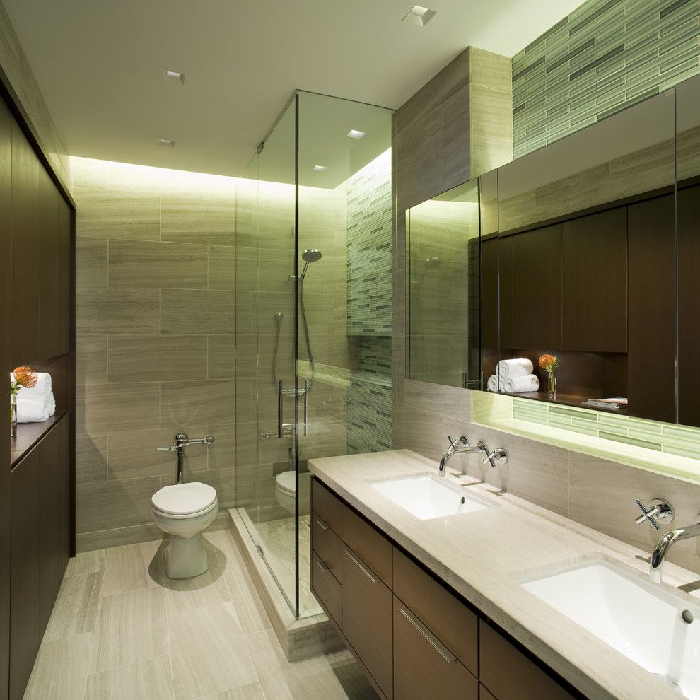 Go.pier1.com for a Contemporary Bathroom with a Double Sinks and Master Bathroom by Dspace Studio Ltd, Aia