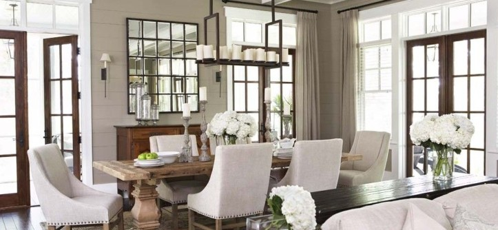 go.pier1.com for a Traditional Dining Room with a Trestle Dining Table and Palmetto Bluff - Private Residence by Linda McDougald Design | Postcard From Paris Home