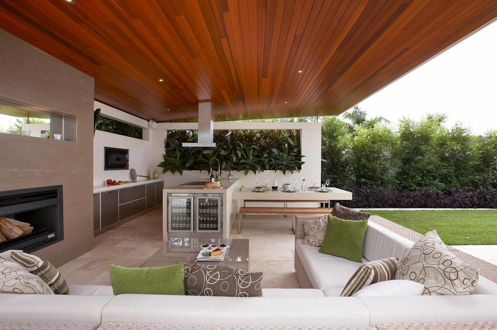 Goldsteins Furniture for a Contemporary Patio with a Covered Outdoor Spaces and Sydney Living by Dean Herald Rolling Stone Landscapes
