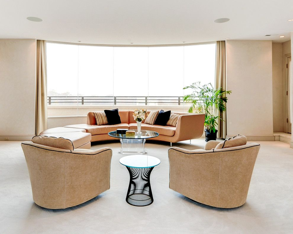 Goldsteins Furniture for a Transitional Living Room with a Curtains and Penthouse by Bart Goldstein Interior Design