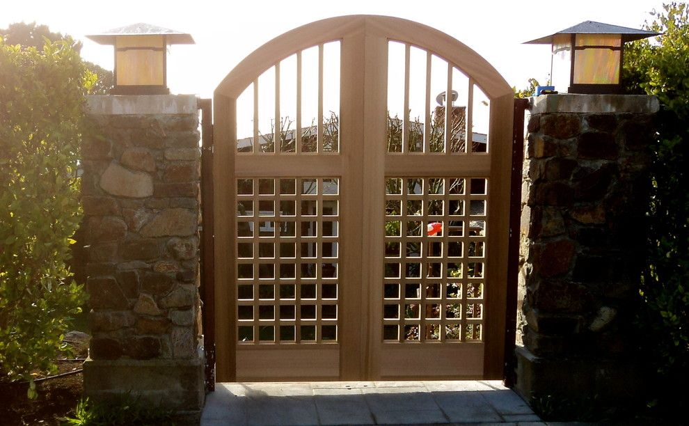 Goleta Ca Weather for a Traditional Landscape with a Seaside and Belvedere, Ca Entry Gate by Marsico Custom Homes, Inc.