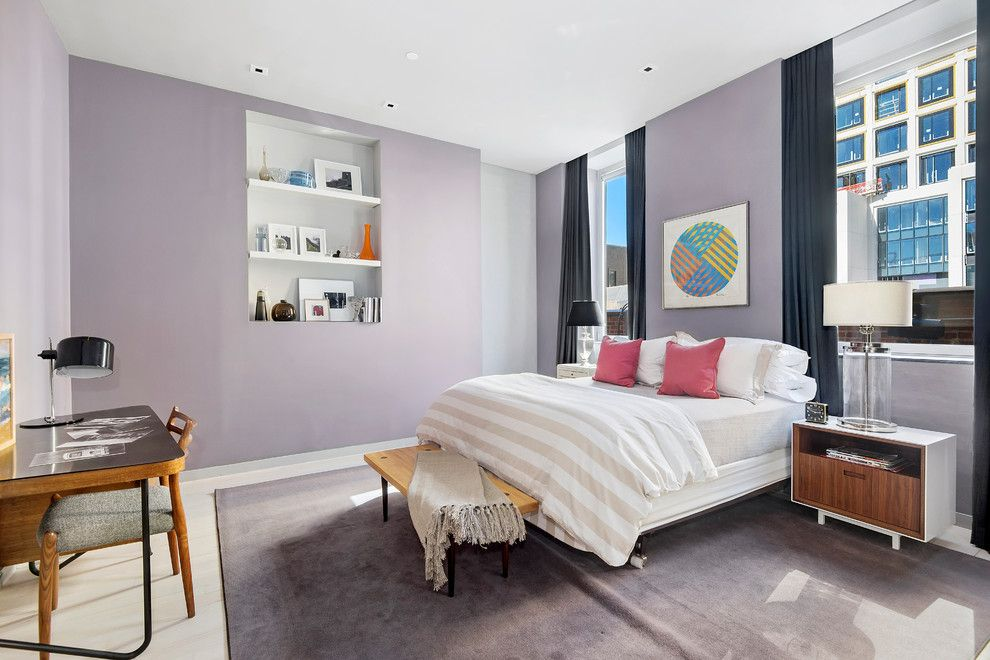 Gotham Lighting for a Contemporary Bedroom with a Condo and 545 West 20th Street | $6,995,000 by the Noble Black Team at Douglas Elliman