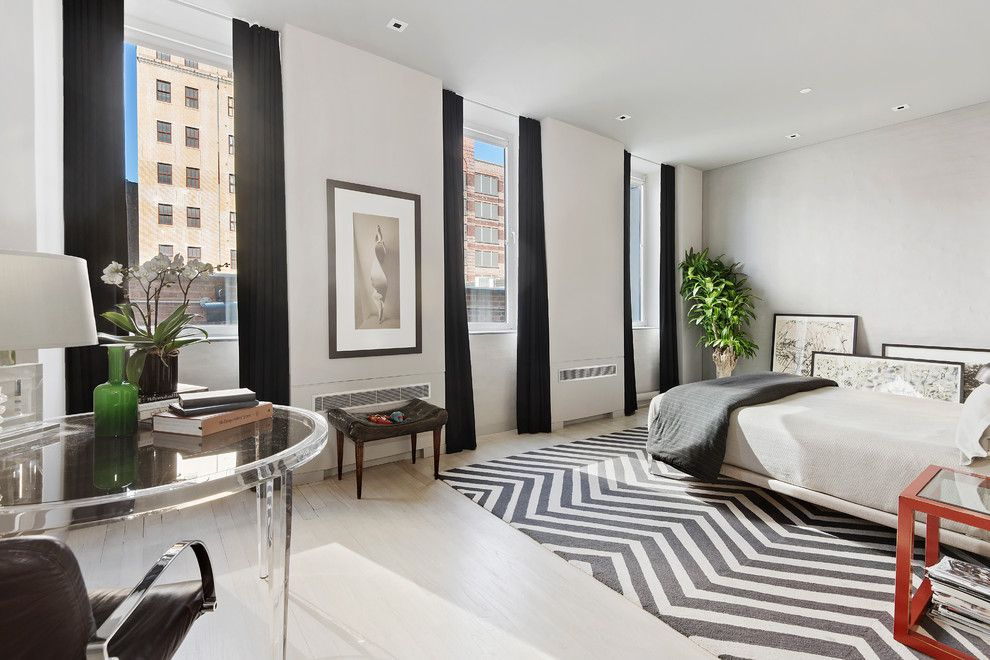 Gotham Lighting for a Contemporary Bedroom with a Custom Closets and 545 West 20th Street | $6,995,000 by the Noble Black Team at Douglas Elliman