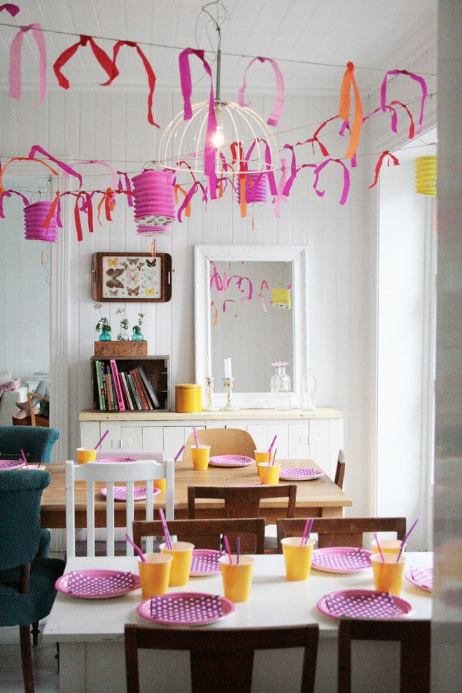 Goulds Discount Medical for a Eclectic Dining Room with a Garland and Dining Room & Birthday by Jeanette Lunde