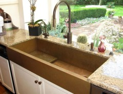 Goulds Discount Medical for a Eclectic Kitchen with a Waterstone Plp and Huge Copper Sink and a Kitchen with a View, Featuring a Copper Sinks by Rachiele by Rachiele, LLC