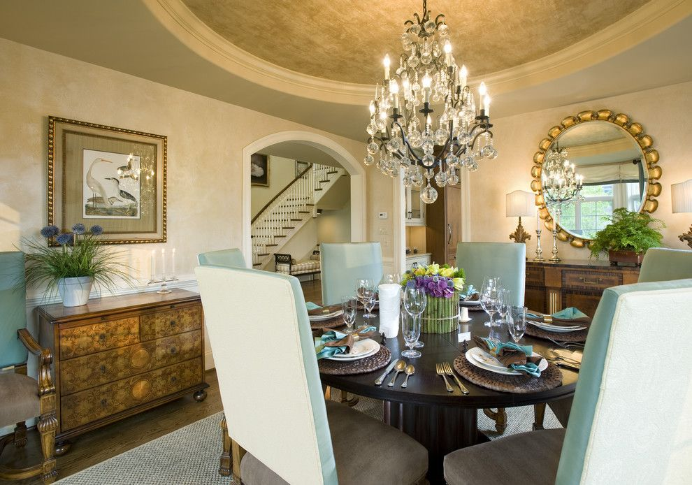 Goulds Discount Medical for a Traditional Dining Room with a Upholstered Dining Chairs and Treymore by Gacek Design Group, Inc.