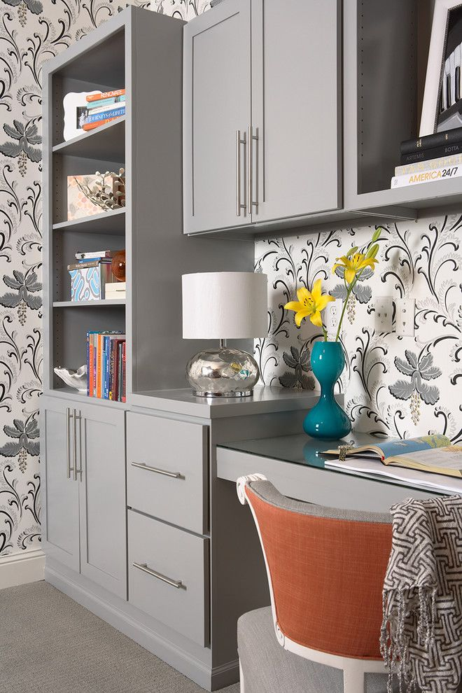 Goulds Discount Medical for a Transitional Home Office with a Drawers and Bruce Avenue Residence Lower Level Home Office 2 by Martha O'hara Interiors