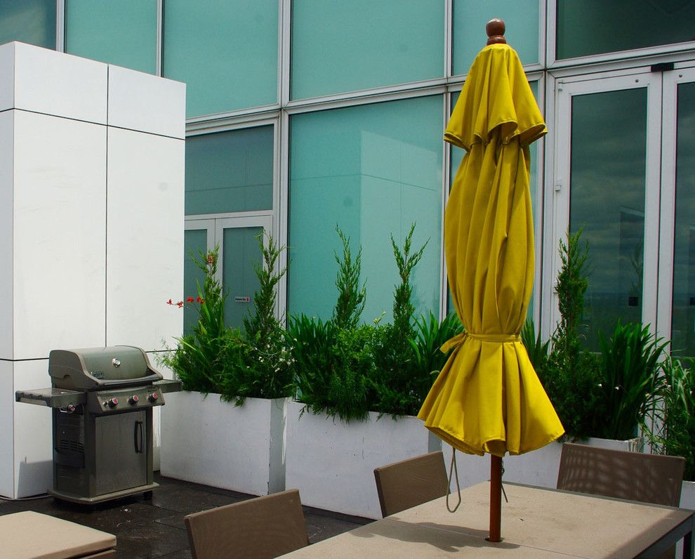 Grand Hyatt Nyc for a Modern Landscape with a Indoor Outdoor Living and Grand Army Plaza Rooftop Garden Ii by Staghorn Nyc
