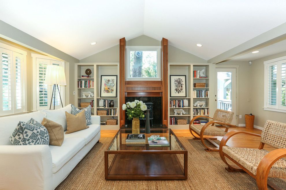 Grandview Heights Schools for a Traditional Living Room with a Built in and Traditional Wooded Cottage in Kentfield by Decker Bullock Sotheby's International Realty