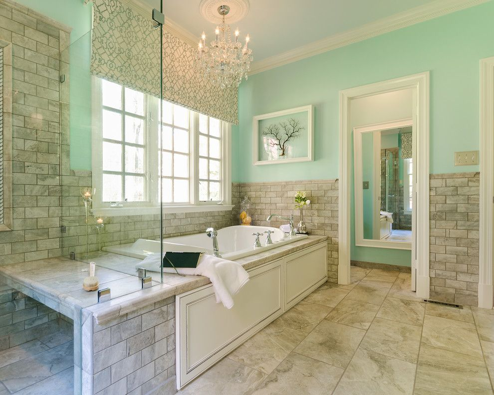 Grandview Heights Schools for a Transitional Bathroom with a Glass Shower Door and After Picture Manakin Sabot, Va  Master Bath Renovation by Designs by Cheryl