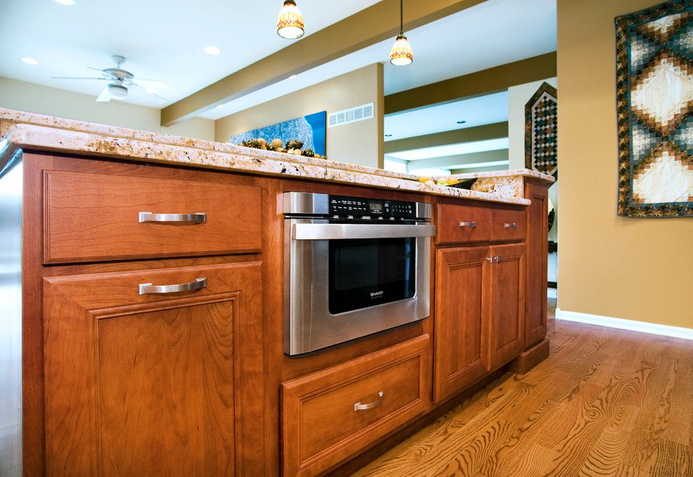Granite City Wichita Ks for a Southwestern Kitchen with a Quality and Southwestern Kitchen   Cherry by R.d. Henry & Company