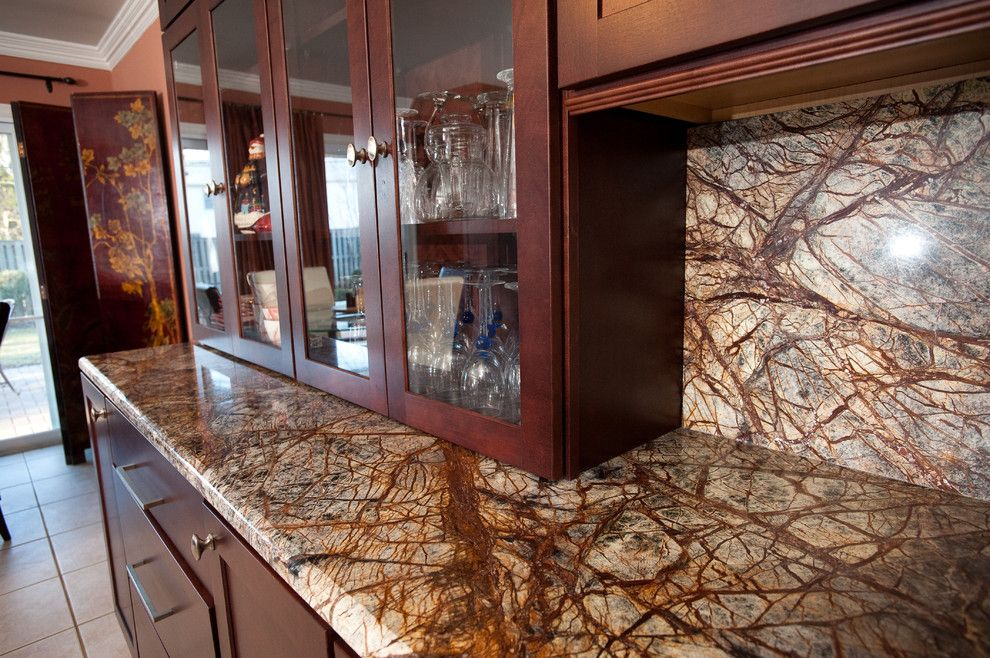 Granite Run Gmc for a Contemporary Kitchen with a Indian Granite and Rainforest Brown Granite Kitchen in Bowie, Md by Granite Grannies